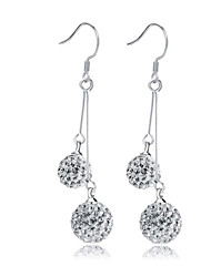 cheap -Lureme®  Korean Fashion 925  Sterling Silver Crystal Tassels Water Drop Shambhala Earrings