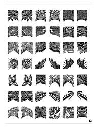 billige -1 pcs Stempling plade Skabelon Negle kunst Manicure Pedicure Mode Daglig / Stempling Plate / Metal