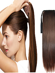 abordables -Extensions de Cheveux à Micro Anneaux Queue-de-cheval Cheveux Synthétiques Pièce de cheveux Extension des cheveux Droit