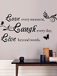 cheap -Sales-Promotion Live Love Laugh Letters Transprent Waterproof Vinyl Wall Quotes Decal/PVC Home Decor Wall Stickers