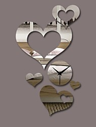 """Fashion Heart to Heart clock mirror wall stickers home decoration for Living Room Background Wall """