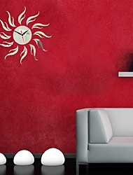 Sun Poster Home Decorative Mirror Wall Stickers Vinilos Large Size Plastic Acrylic Mirror Decals Clock Wallpaper