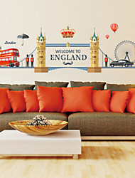 cheap -Wall Stickers Wall Decals Style Tower Bridge of London PVC Wall Stickers