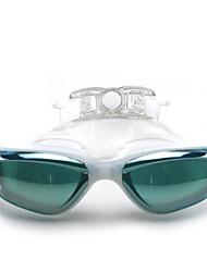 Недорогие -плавательные очки Водонепроницаемость / Противо-туманное покрытие / Регулируемый размер силикагель Поликарбонат розовый / черный / синий розовый / черный / синий
