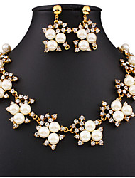 cheap -Women's Jewelry Set Floral Flower Style Cute Party Flowers Fashion Cute Style Party Special Occasion Anniversary Birthday Gift Pearl