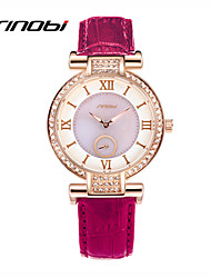 cheap -SINOBI Women's Wrist Watch Water Resistant / Water Proof Leather Band Charm / Fashion Purple / Two Years / Sony SR626SW