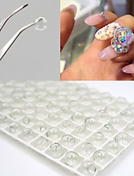 cheap -7PCS 8MM DIY Hollow Crystal Ball Nail Art Decorations