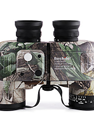 Boshile 10X50 mm Binoculars Telescope with Rangefinder and Compass Waterproof Roof Prism BAK4 Fully Multi-coated 132m/1000m Independent Focus