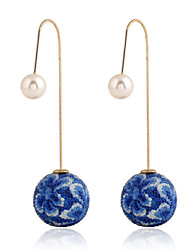 abordables -Femme Boucles d'oreille goutte Cristal Diamant synthétique Bijoux Fantaisie Mode Bijoux de Luxe Européen Pierres synthétiques Cristal