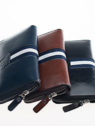 Men PU Knucklebox Clutch / Wallet - Blue / Brown / Black