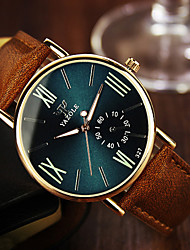 cheap -Men's Wrist Watch Leather Band Brown / Stainless Steel
