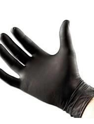 Недорогие -basekey нажмите неприпудренные черный одноразовые нитриловые перчатки татуировки механика в штучной упаковке 100