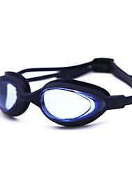 Недорогие -плавательные очки Водонепроницаемость Противо-туманное покрытие По предписанию врача Зеркальный силикагель Нейлон белый серый черный розовый серый синий
