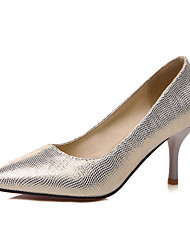 cheap -Women's Heels Club Shoes Glitter Summer Fall Wedding Office & Career Dress Club Shoes Stiletto Heel Gold Silver Blue 2in-2 3/4in