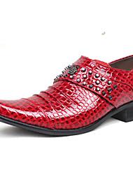 Pánské Obuv Lakovaná kůže Zima Podzim Pohodlné Společenské boty Oxfordské pro Ležérní Party Černá Červená