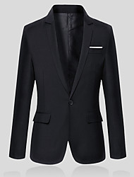 cheap -Men's Slim Blazer - Solid Colored