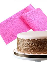 baratos -Esteiras de renda de silicone molde de rendas tapete fondant decoração do bolo de casamento flor molde de estampagem