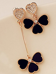 cheap -Women's Mismatched Drop Earrings - Rhinestone Classic, Trendy Black For Daily / Casual