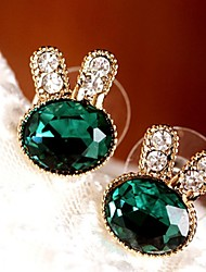 cheap -Stud Earrings Drop Earrings Cubic Zirconia Platinum Plated Alloy Fashion Green Jewelry 1set