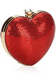 cheap -Women Bags Polyester Metal Evening Bag Sequins for Wedding Event/Party All Season Red
