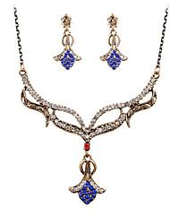abordables -Turquesa Conjunto de joyas - Zirconia Cúbica, Turquesa Vintage, Fiesta, Trabajo Incluir Dorado / Azul Para / Pendientes / Collare