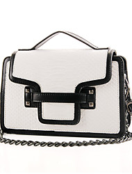cheap -Women's Bags PU Tote / Shoulder Bag for Casual White / Black / Red