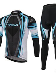 XINTOWN Calça com Camisa para Ciclismo Unisexo Manga Longa Moto braço aquecedores Camisa/Roupas Para Esporte Conjuntos de Roupas Secagem
