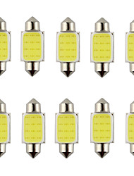 10PCS Festoon 31mm 36mm 39mm 3W 240lm 6000K COB LED White Light for Car Steering Light Bulb / Reading Lamp(DC12V)