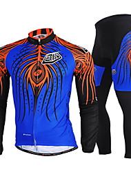 Nuckily Велокофты и лосины Муж. Длинные рукава Велоспорт Наборы одеждыБыстровысыхающий С защитой от ветра Ультрафиолетовая устойчивость