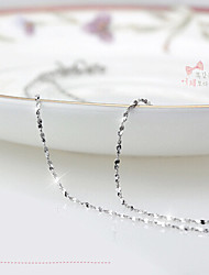 abordables -Mujer Cadenas / Collar - Plata de ley, Plata Fiesta, Moda Blanco, Plata Gargantillas Para Diario