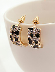 cheap -Women's Rhinestone Stud Earrings - Fashion Gold Earrings For Daily