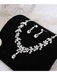 cheap -Women's Jewelry Set - Rhinestone Include Necklace / Earrings For Wedding Party Daily