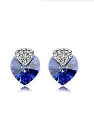 cheap -Full Crystal Earrings Stud Earrings for Women Cute Heart Earrings Fashion Jewelry Accessories