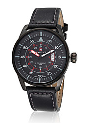 cheap -Men's Wrist Watch Calendar / date / day / Water Resistant / Water Proof Leather Band Black / Brown / Stainless Steel