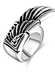 Anéis Fashion Pesta Jóias Aço Feminino Anéis Statement 1pç,Tamanho Único Preto