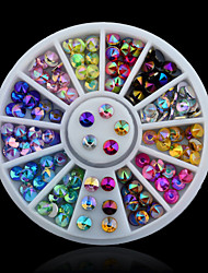 cheap -Colorful Sharp Crystal AB 3d Nail Rhinestone Wheel Shiny Glitter Nail Art Tips Decoration Tools