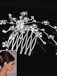 abordables -Alliage Peignes Coiffure with Fleur 1pc Mariage Occasion spéciale Casque