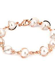 Women's Chain Bracelet Fashion Pearl Rose Gold Plated Jewelry For Daily Formal Date