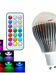 cheap -500 lm GU10 LED Globe Bulbs A60(A19) 3 leds High Power LED Dimmable Decorative Remote-Controlled RGB AC 100-240V