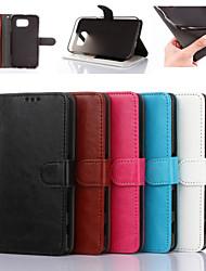 billiga -fodral Till Samsung Galaxy Samsung Galaxy S7 Edge Plånbok / Korthållare / med stativ Fodral Enfärgad PU läder för S7 edge / S7 / S6 edge
