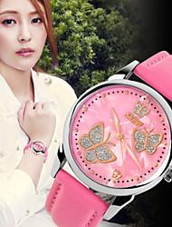 baratos -Mulheres Relógio de Pulso Venda imperdível Couro Banda Amuleto / Fashion Preta / Branco / Vermelho / Aço Inoxidável