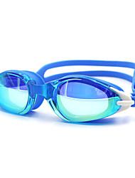 Недорогие -плавательные очки Противо-туманное покрытие По предписанию врача Зеркальный силикагель Поликарбонат белый черный синий белый красный черный