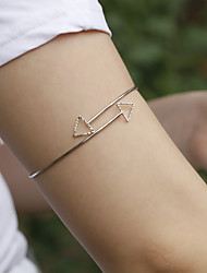 Body Jewelry Arm Cuff/Arm bands Unique Design Fashion Simple Style Jewelry Gold Silver Jewelry Party Birthday Gift 1pc