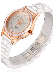 Women's Ceramic White Band Analog Quartz Japan PC Wrist Watch Jewelry Cool Watches Unique Watches