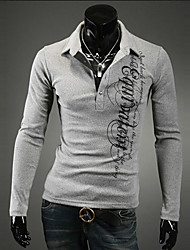 お買い得  -男性用 プリント プラスサイズ Polo 活発的