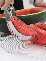 Watermelon Fruit Cutter Slicer Points Cut Stainless Steel Thicker Safety Kitchen Knives