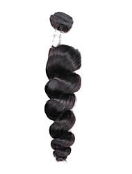 Cabelo Humano Cabelo Brasileiro Cabelo Humano Ondulado Ondas Soltas Extensões de cabelo 1 Peça Preto