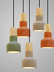 Nordic Loft Industrial Cement Chandelier;Pendant Light with 1 LED Bulb; Bulb Include