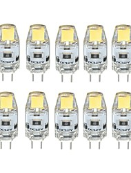 cheap -1W G4 LED Bi-pin Lights T 1 COB 100 lm Warm White Cold White 3000/6000 K Dimmable DC 12 V 10pcs