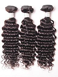 povoljno -Brazilska kosa Kovrčav Kovrčavog tkanja Isprepliće ljudske kose 3 komada Ljudske kose plete